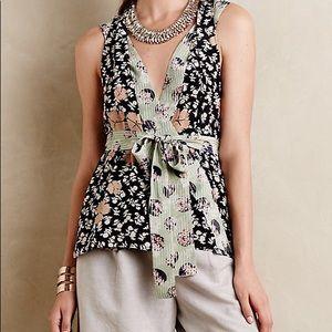 100% Silk Starflower sleeveless blouse